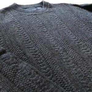Bill Blass Men's Grey Knot Sweater